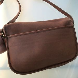 Coach Bags - Vintage Coach Leather Foldover Crossbody Bag #1393